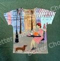 T-shirt Dachshund Paris